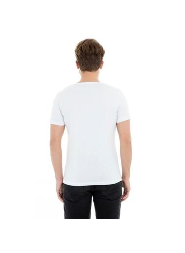Manche Tişört Beyaz
